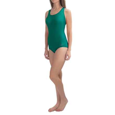 Dolfin Aquashape Conservative Lap Swimsuit (For Women) in Emerald - Closeouts