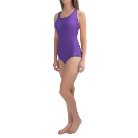 Dolfin Aquashape Conservative Lap Swimsuit (For Women) in Purple - Closeouts