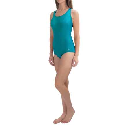 Dolfin Aquashape Conservative Lap Swimsuit (For Women) in Turquoise - Closeouts