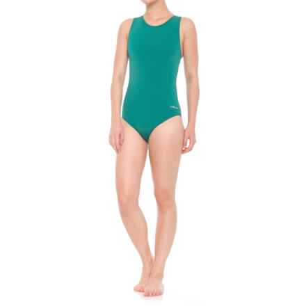 Dolfin Aquashape Moderate Lap One-Piece Swimsuit - UPF 50+ (For Women) in Emerald - Closeouts