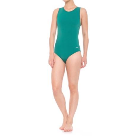 Dolfin Aquashape Moderate Lap One-Piece Swimsuit - UPF 50+ (For Women) in Emerald