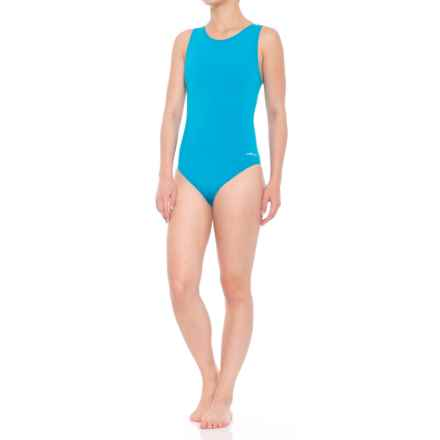 Dolfin Aquashape Moderate Lap One-Piece Swimsuit - UPF 50+ (For Women) in Turquise - Closeouts
