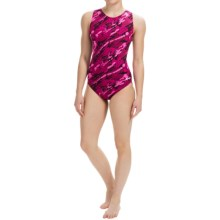 Dolfin Aquashape Moderate Lap Swimsuit - UPF 50+ (For Women) in Marina Magenta - Closeouts