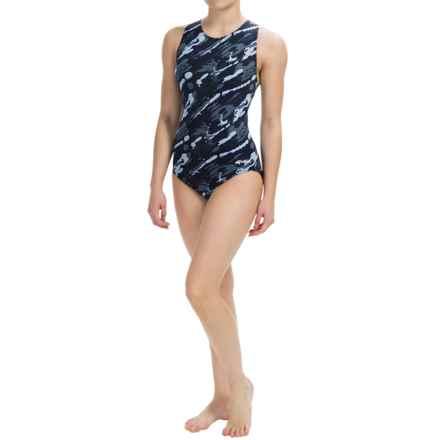 Dolfin Aquashape Moderate Lap Swimsuit - UPF 50+ (For Women) in Marina Slate - Closeouts