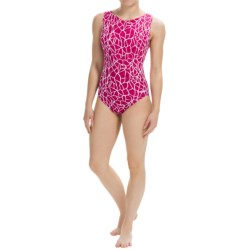 Dolfin Aquashape Moderate Lap Swimsuit - UPF 50+ (For Women) in Solara Berry
