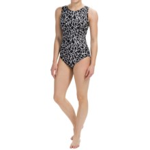 Dolfin Aquashape Moderate Lap Swimsuit - UPF 50+ (For Women) in Solara Black - Closeouts