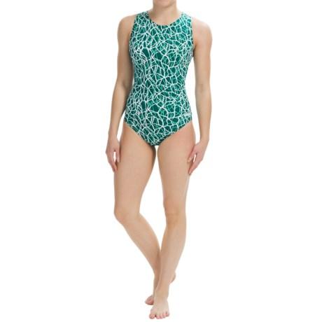 Dolfin Aquashape Moderate Lap Swimsuit - UPF 50+ (For Women) in Solara Emerald