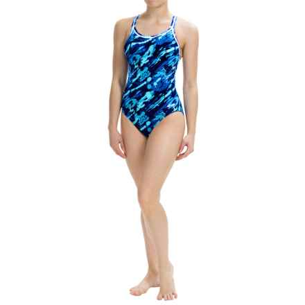 Dolfin Aquashape Swimsuit - Built-In Shelf Bra (For Women) in Marina Blue - Closeouts