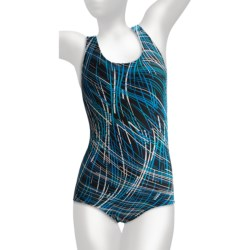 Dolfin Aquashape Traditional Lap Swimsuit - Racerback, Built-In Bra (For Women) in Ariel Purple