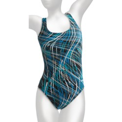 Dolfin Ariel Competition Swimsuit - HP Back (For Women) in Blue