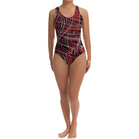Dolfin Ariel Competition Swimsuit - HP Back (For Women) in Red