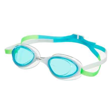 Dolfin Aurora Swimming Goggles (For Women) in Aqua White - Closeouts
