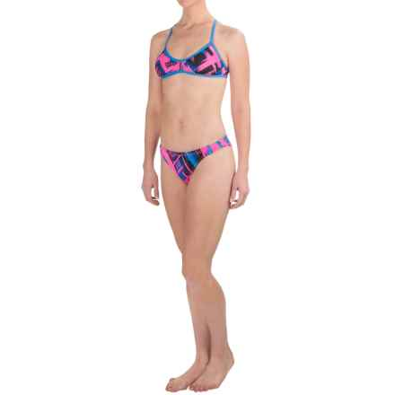 Dolfin Bellas Bikini Set - UPF 50+ (For Women) in Pink/Blue Moda - Closeouts