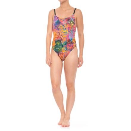 b08a31adc89e3 Dolfin Bellas Ultra-Low Back Mamba One-Piece Swimsuit - UPF 50+ (