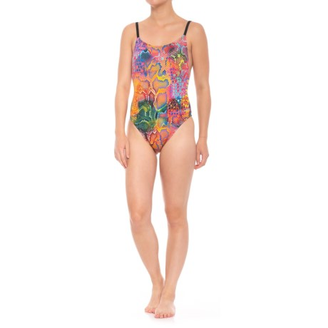 Dolfin Bellas Ultra-Low Back Mamba One-Piece Swimsuit - UPF 50+ (For Women) in Mamba