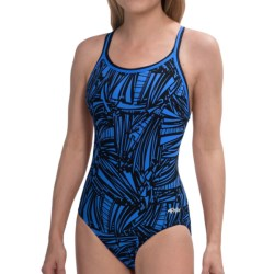 Dolfin Chloroban® DBX Back Competition Suit - UPF 50+ (For Women) in Purple Zone Print