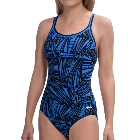 Dolfin Chloroban® DBX Back Competition Suit - UPF 50+ (For Women) in Red Grafika