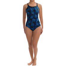 Dolfin Chloroban® DBX Back Competition Suit - UPF 50+ (For Women) in Blue Zone Print - Closeouts
