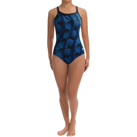 Dolfin Chloroban® DBX Back Competition Suit - UPF 50+ (For Women) in Blue Zone Print
