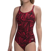 Dolfin Chloroban® DBX Back Competition Suit - UPF 50+ (For Women) in Red Grafika - Closeouts