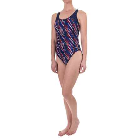 Dolfin Competition Eco Swimsuit (For Women) in Red/White/Blue Stormy - Closeouts