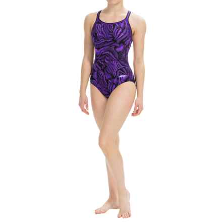 Dolfin Competition Swimsuit - Chloroban®, UPF 50+ (For Women) in Magma Purple - Closeouts