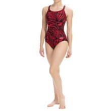 Dolfin Competition Swimsuit - Chloroban®, UPF 50+ (For Women) in Magma Red - Closeouts
