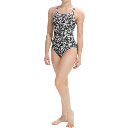 Dolfin Competition Swimsuit - Chloroban®, UPF 50+ (For Women) in Solara Black - Closeouts
