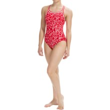 Dolfin Competition Swimsuit - Chloroban®, UPF 50+ (For Women) in Solara Red - Closeouts