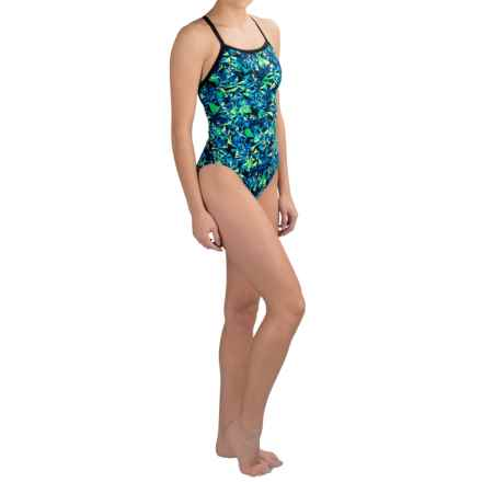Dolfin Competition Swimsuit (For Women) in Blitz Blue Green - Closeouts