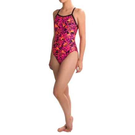 Dolfin Competition Swimsuit (For Women) in Blitz Pink/Orange - Closeouts