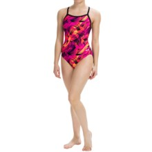 Dolfin Competition Swimsuit (For Women) in Siren Purple/Pink - Closeouts