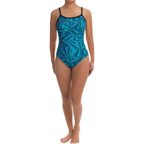 Dolfin Competition Swimsuit - Square Neck (For Women) in Roxy Blue