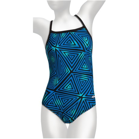 Dolfin Competition Swimsuit - Square Neck (For Women) in Sonic Blue