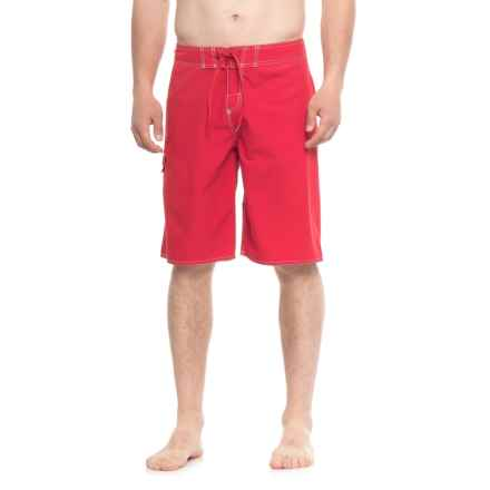 Dolfin Fitted Boardshorts (For Men) in 250 Red - Closeouts