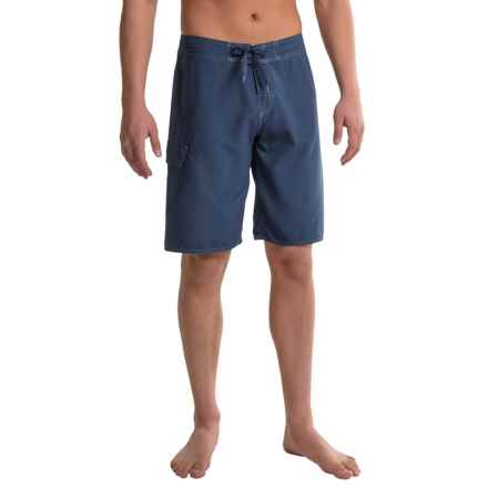 Dolfin Fitted Boardshorts (For Men) in Navy - Closeouts