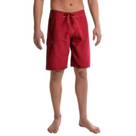 Dolfin Fitted Boardshorts (For Men) in Red - Closeouts