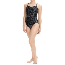 Dolfin Galaxy Competition Swimsuit (For Women) in Galaxy Gray - Closeouts