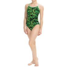 Dolfin Galaxy Competition Swimsuit (For Women) in Galaxy Green - Closeouts