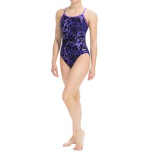Dolfin Galaxy Competition Swimsuit (For Women) in Galaxy Purple - Closeouts