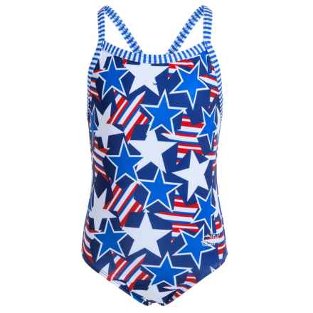Dolfin Girls Uglies One-Piece Swimsuit - UPF 50+ (For Little and Big Girls) in Glory - Closeouts