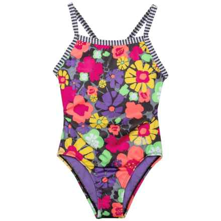 Dolfin Girls Uglies One-Piece Swimsuit - UPF 50+ (For Little and Big Girls) in Secret Garden - Closeouts