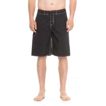 Dolfin Neutral Fitted Boardshorts (For Men) in 790 Black - Closeouts