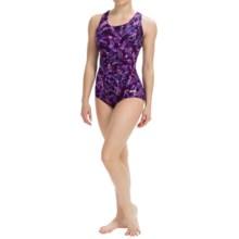 Dolfin Ocean Aquashape Conservative Swimsuit - Chloroban, UPF 50 (For Women) in Bali Magenta - Closeouts