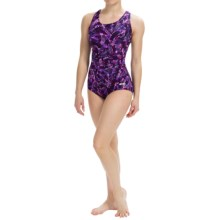 Dolfin Ocean Aquashape Conservative Swimsuit - Chloroban, UPF 50 (For Women) in Bali Magenta - Closeouts