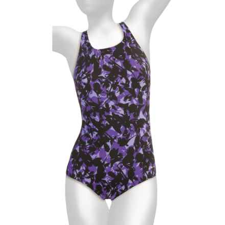 Dolfin Ocean Aquashape Conservative Swimsuit - Chloroban, UPF 50 (For Women) in Morea Purple - Closeouts