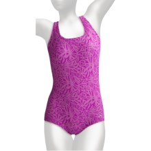 Dolfin Ocean Aquashape High-Performance Swimsuit - Muscle Back (For Women) in Kahla Magenta - Closeouts