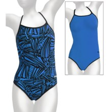 Dolfin Reversible Competition Swimsuit - Chloroban®, Cross Back, 1-Piece (For Women) in Grafika Blue - Closeouts