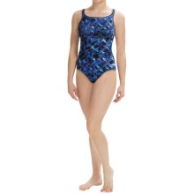 Dolfin Rondo Swimsuit - Chloroban®, UPF 50+, DBX-Back (For Women) in Blue - Closeouts