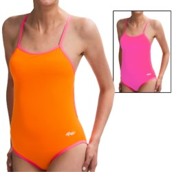 Dolfin Solid Competition Swimsuit - Cross Back (For Women) in Black/Gold